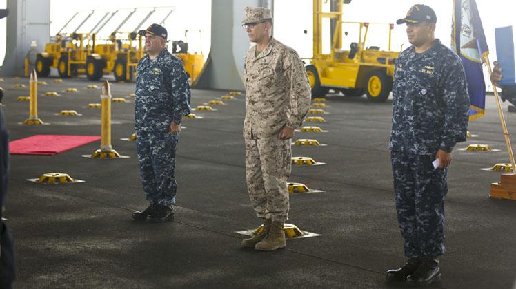 USS Puller Exchange of Command