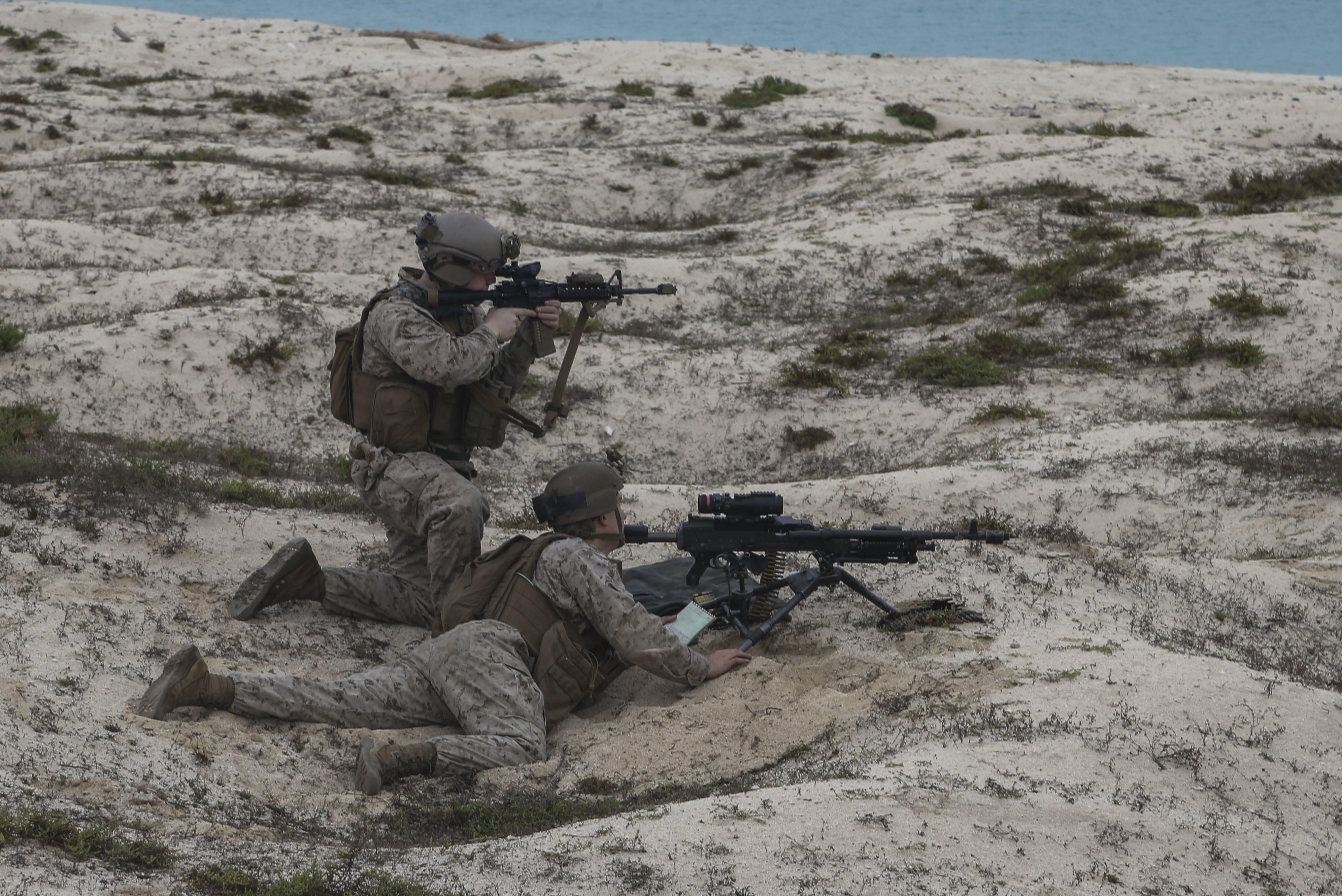 Fox Company executes heliborne raid on Karan Island