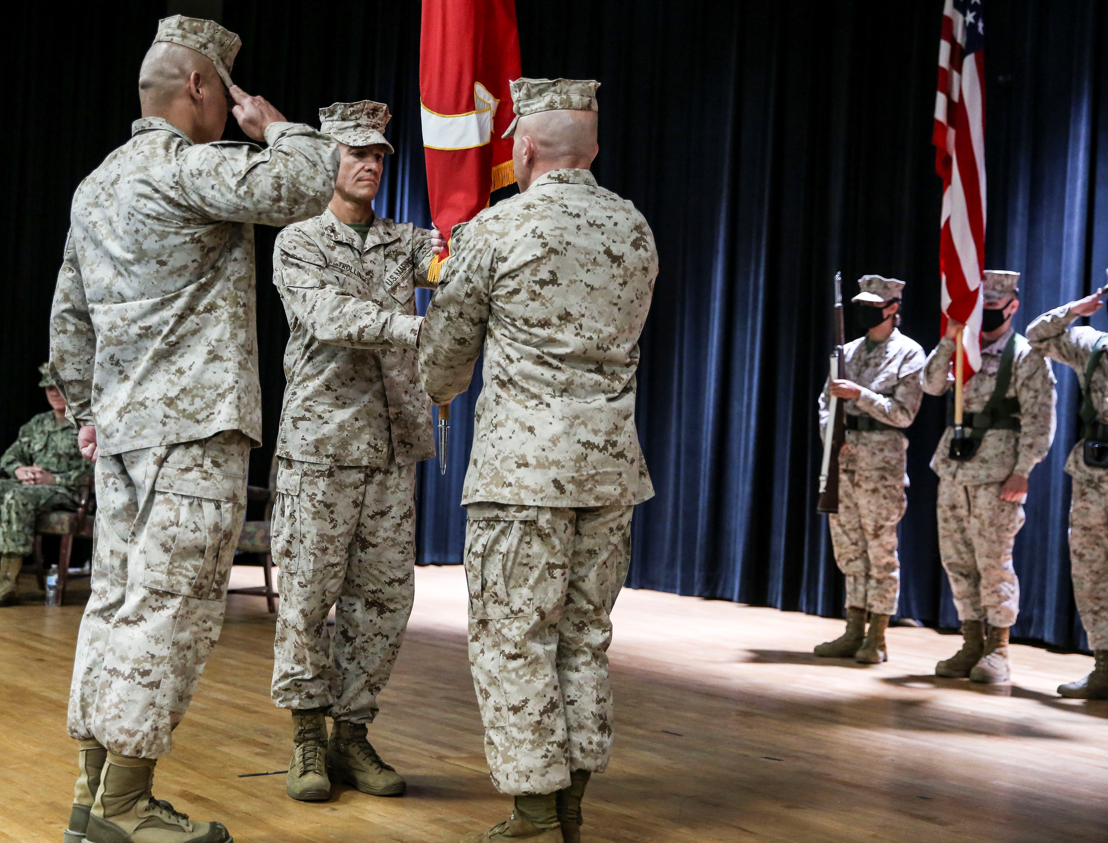 Task Force 51/5th Marine Expeditionary Brigade Change of Command
